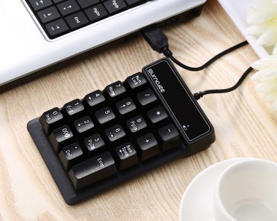 SurnQiee USB Numeric Keypad, 19 Keys Wired Number keypad