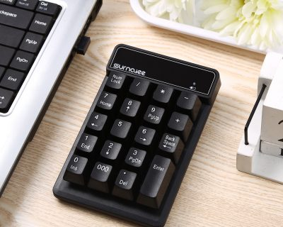 SurnQiee 2.4G Wireless Numeric Keypad, 19 Keys Mini Number Pad
